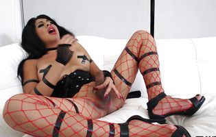 Tanya Q fiercely masturbates while wearing an amazingly sexy lingerie