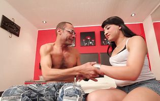 Guest receives full room service from a tranny maid Valentina