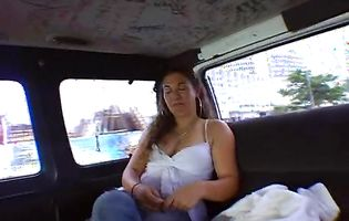 Vanessa is ready to suck a cock in the van