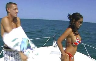 Absolutely breathtaking milf Priya gets a massage on a boat