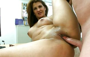 Big ass Ruby gets banged hard on the office table