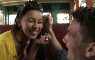Kinky Viviana sucks in the bus and fucks at home