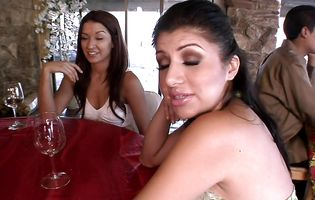 Latina MILF Sativa Rose has fun with horny frat boys