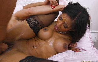 Fascinating brown-haired darling Sadie Santana receive wild pounding pleasure from buddy