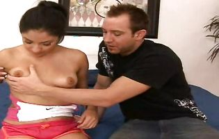 Lewd latin lady Franky Viexen is crazy to ride her lover