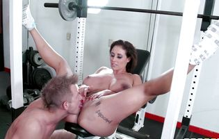 Huge breasted Eva Notty gets dicked by a gym instructor