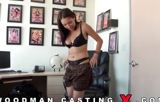Tattooed whore shows her slit to horny casting agent POV
