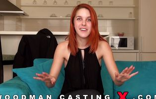 Redhead skank takes her clothes off for casting agent POV
