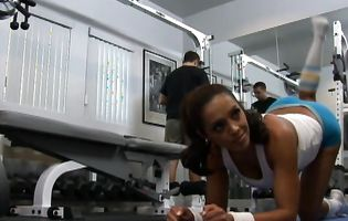 Francesca Le and Keiran Lee and wildly at the gym