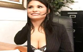 Busty office babe Sophia gets pounded by an experienced dude