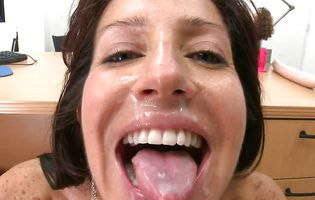 Swingeing brown-haired maid Tara unfathomable and hard in her wet quim spot