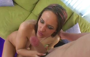 Engaging brown-haired Carmella Bing got down and dirty with dude 'cuz she was very excited