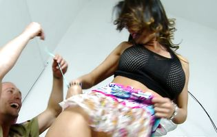 Divine bosomed floosy Franceska Jaimes is fond of getting pipe in mouth and cuch
