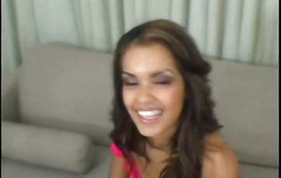 Staggering latin playgirl Daisy Marie is satisfied by a hard knob