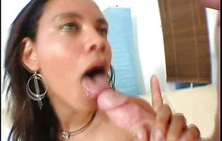 Startling dark-haired Desireo bangs with one horny boy