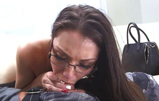 Appealing latin brown-haired Miss Rican is all about getting fucked and fucking real hard