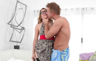 Putting a hard knob deep inside cute blond Daisy Daniels